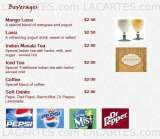 Pricelists of Bombay Grill Indian Restaurant