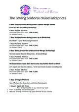 Pricelists of The Smiling Seahorse