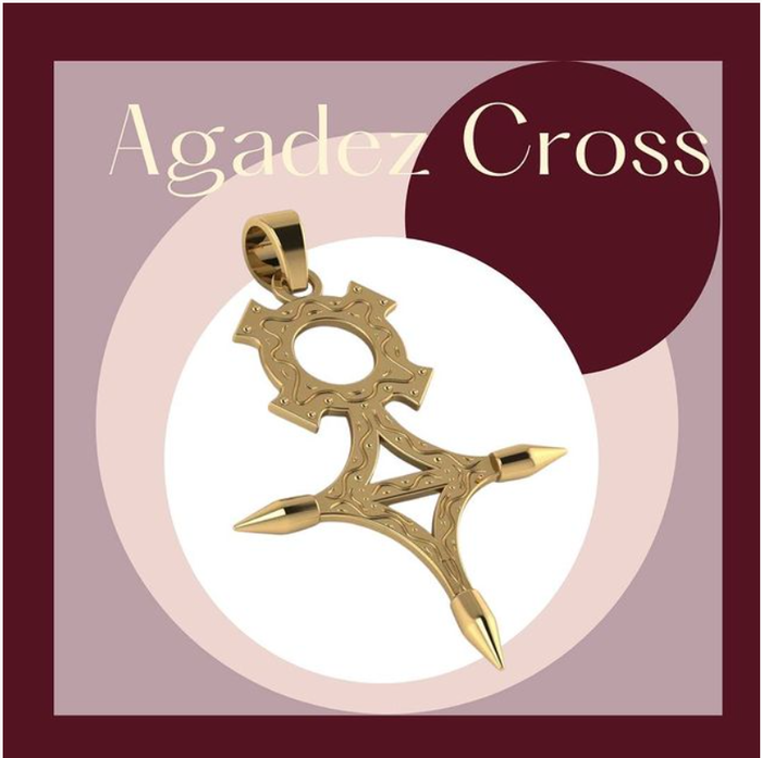 The Agadez Cross in 18k yellow gold by Fearless Jewellery. New Album of FEARLESS JEWELLERY | SAINT-LUCIA Sunny Acres - Photo 2 of 5