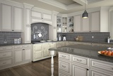 White & Solid Wood Cabinets Serving