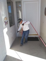 Croach technician working outdoor front entrance Croach Pest Control 28 Boland Court, Unit 28
