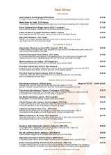 Pricelists of Orchid Restaurant