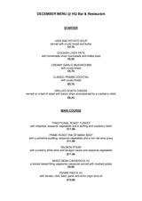 Pricelists of HQ Bar and Restaurant