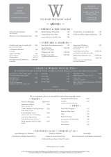 Pricelists of The Wharf Restaurant and Bar