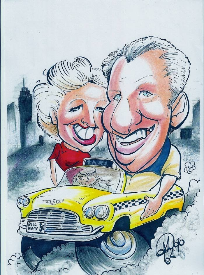 Happy Anniversary to A great Mum and Dad. New Album of Crazy Caricatures St Mary Street - Photo 14 of 14