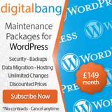 WordPress Support Packages - Advanced Plan £149/month WordPress Web Design & SEO | WP Support Packages - Digital Bang Ltd Kemp House, 152 City Road