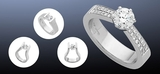 Profile Photos of Engagement Rings Melbourne