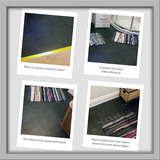 Black looks good! Black is not always considered a vibrant choice for a floor. However, our fitters' snaps show how simple black can be lively and exciting, it also has distinct advantages with colour contrast and crisp edges. Our black bathroom vinyl