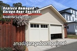 Replace Damaged Garage Door Sections