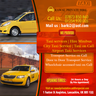 Rawal Private Hire | Transport Service on Call Accrington