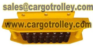 Steel chain roller skids for loads up to more than 2000 tons