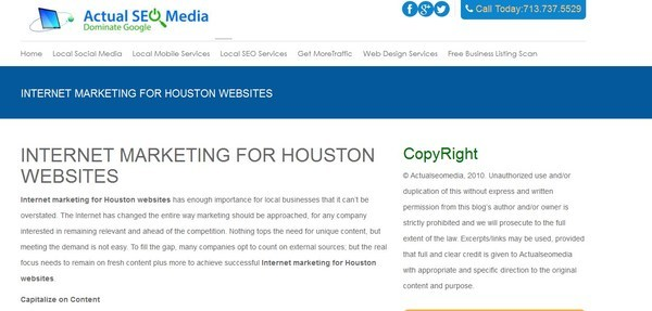 Pricelists of INTERNET MARKETING FOR HOUSTON WEBSITES 12922 Briarwest Circle, - Photo 1 of 1