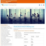 Charity Donors List   Email Database of Charity Donors
