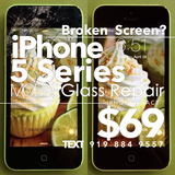 iPhone 5 5C & 5S Screen Repair for Cracked Glass Just $69. Broken Screen Replacement Done at Your Workplace or Local Coffee Shop in 15 Minutes! Guaranteed with a 1 Year Warranty!