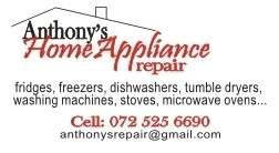 Anthonys Home Appliance repair