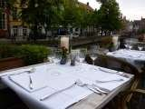 exclusive terrace overlooking the canal