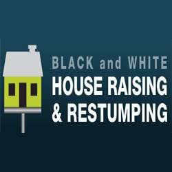 Black and White House Raising and Restumping