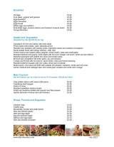 Pricelists of Blanche Eatery
