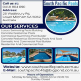 Concrete pool builder Adelaide   South Pacific Pools