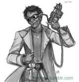 Commission for a personal Shadowrun character, 2013