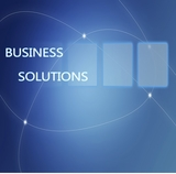 Business Solutions concept Illustration on Blue Background