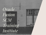 SCM  of Oracle Fusion SCM Training Institute at Erptree