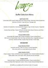 Pricelists of Lounge Restaurant and Bar