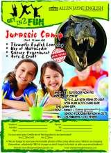 Jurassic Camp during school holiday