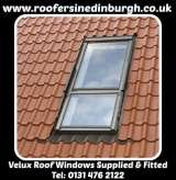 Velux Roof Windows Supplied and Fitted, Roofers In Edinburgh 0131 476 2122, www.roofersinedinburgh.co.uk