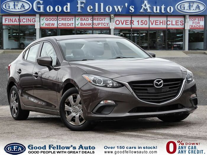 This 2016 brown MAZDA3 has your name on it! Contact Good Fellows today for more information. Inventory of Good Fellow's Auto Wholesalers 3675 Keele St - Photo 59 of 221