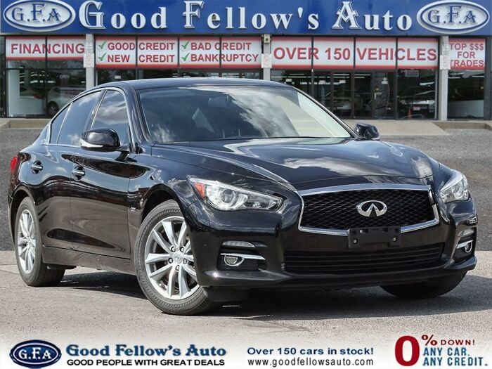 Purchase this black 2016 Infiniti Q50 today at our dealership!<br /> <br /> https://www.goodfellowsauto.com/ Inventory of Good Fellow's Auto Wholesalers 3675 Keele St - Photo 69 of 219