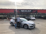 Two happy customers with a shiny 2018 Honda Civic! Nexcar Auto Sales & Leasing 1235 Finch Ave W