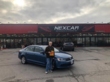 Another happy client with a beautiful blue 2017 Volkswagen Jetta! Nexcar Auto Sales & Leasing 1235 Finch Ave W