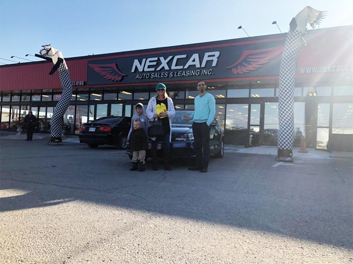 Happy Family Purchased VW Nexcar Happy Client Photo 2 of Nexcar Auto Sales & Leasing 1235 Finch Ave W - Photo 5 of 41