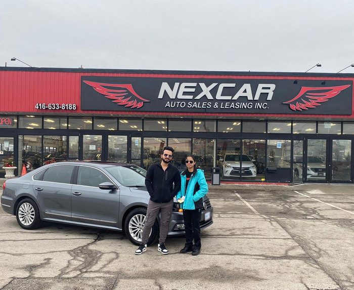 Sold! 2018 Passat to our happy customers!  Happy Client Photo 2 of Nexcar Auto Sales & Leasing 1235 Finch Ave W - Photo 29 of 41