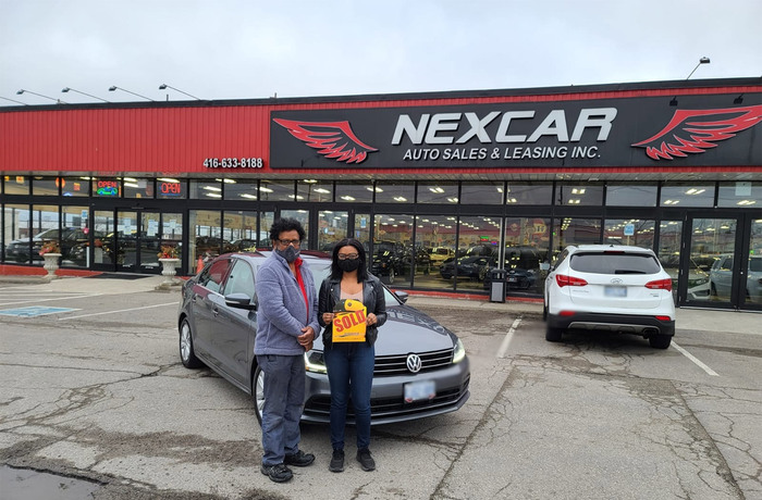 Sold! 2017 Jetta Trendline Plus to our happy customers!  Happy Client Photo 2 of Nexcar Auto Sales & Leasing 1235 Finch Ave W - Photo 33 of 36
