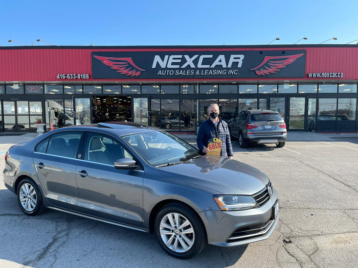Sold 2018 VW Jetta Wolfsburg at Nexcar! Happy Client Photo 2 of Nexcar Auto Sales & Leasing 1235 Finch Ave W - Photo 36 of 41