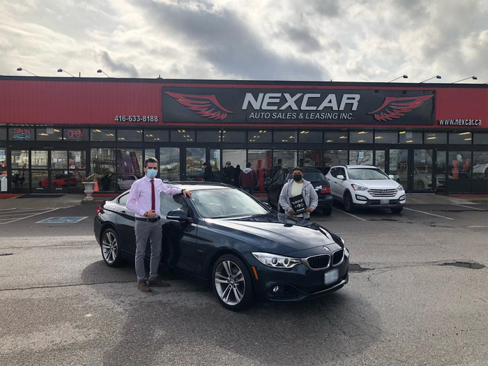 Sold! 2018 BMW 3 series 320I Xdrive Sport-Package Happy Client Photo 2 of Nexcar Auto Sales & Leasing 1235 Finch Ave W - Photo 38 of 49