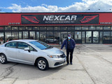 Sold! 2015 Honda Civic LX to our happy client!  Nexcar Auto Sales & Leasing 1235 Finch Ave W