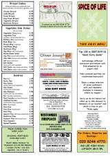 Pricelists of The Spice Of Life Indian Cuisine
