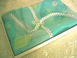 Silk Square Scarf Gift Boxed Blue