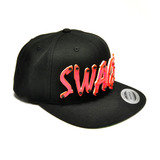 SWAGG - Hot Pink Acrylic letters on Black Snapback Hat
