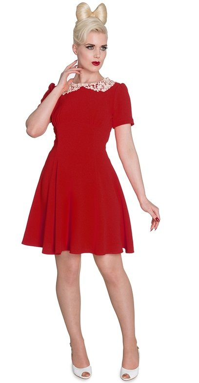 Hell Bunny Vintage Style Red Mia Dress