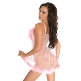 Babydoll and G-String Pink