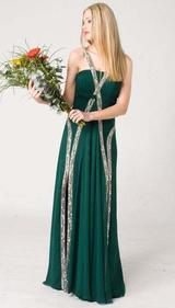 E107 UNIQUE CHIC FORMAL DRESS - GREEN