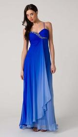E110 COLOURFULL SILK ELEGANCE GOWN - BLUE