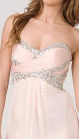 E203 SHIMMER AND SHINE STRAPLESS GOWN - PEACH