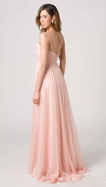 E204 CLASSIC STYLE WITH MODERN FLAIR FORMAL GOWN - PINK