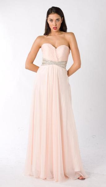 E322 CHIC AND SIMPLE STUNNER GOWN - PEACH