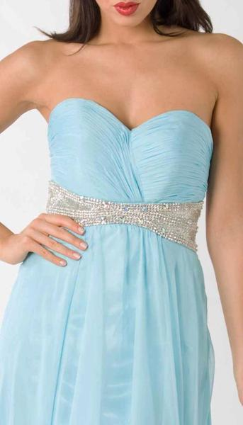 E322 CHIC AND SIMPLE STUNNER GOWN - TURQUOISE